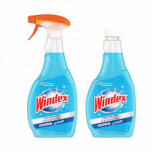 Windex Glass Cleaner 750ml+Replacement 500 ml